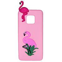 Чехол Cartoon 3D Case для Huawei Mate 20 Pro Фламинго