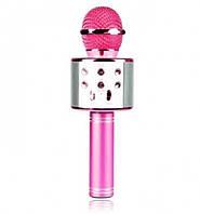 Детский беспроводной микрофон караоке + встроенная колонка WSTER WS858 Original Розовый, фото 1
