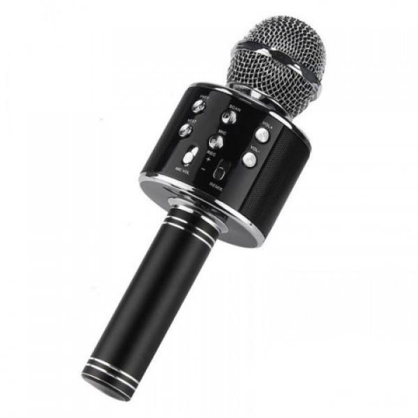 Детский беспроводной микрофон караоке + встроенная колонка WSTER WS858 Original Черный