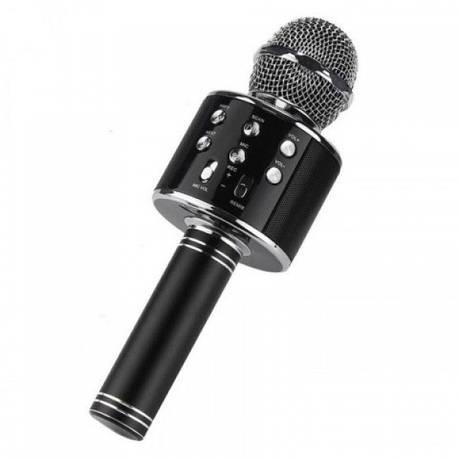 Детский беспроводной микрофон караоке + встроенная колонка WSTER WS858 Original Черный, фото 2