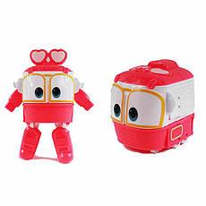 Игровой автотрек Роботы-Поезда Robot Trains Салли (Selly) розовый, фото 2