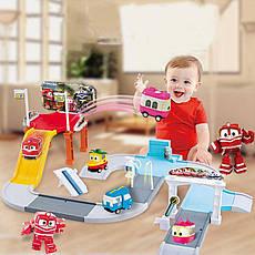 Игровой автотрек Роботы-Поезда Robot Trains Салли (Selly) розовый, фото 3