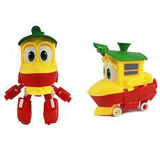 Игровой автотрек Роботы-Поезда Robot Trains Утенок (Duck) желтый, фото 2