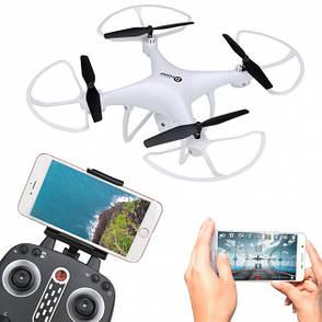 Квадрокоптер LH-X25WF р/у2,4G, аккум, 39см,камера,зап.лопасти,WiFi,св,USBзар,в кор,58-43,5-9см, фото 2