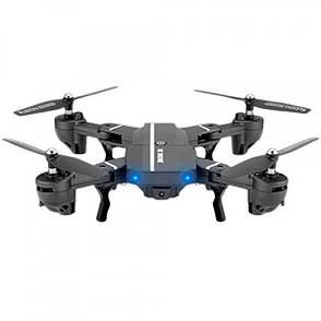 Квадрокоптер со складывающимся корпусом RC DRONE 8807 HD WiFi камера барометр Черный, фото 2