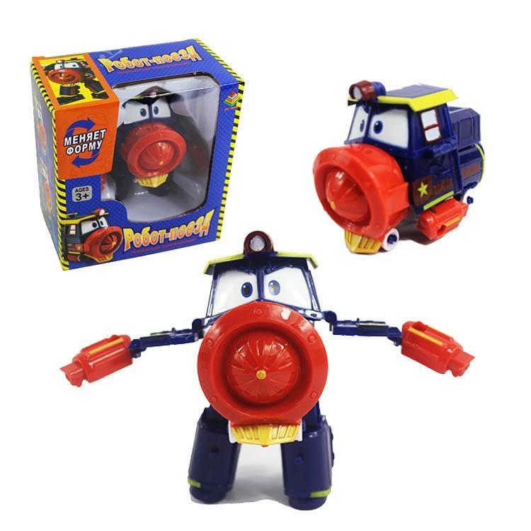 Робот Поезд Robot Trains Виктор (Victor) красно-синий