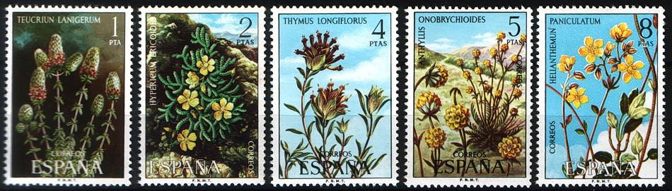 Испания 1974 Espana цветы MNH XF