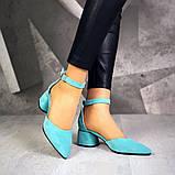 Шикарные туфли на каблуке на ремешке, фото 3