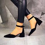 Шикарные туфли на каблуке на ремешке, фото 8