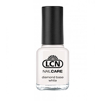 LCN Diamond Base - специальный лак с алмазной крошкой для укрепления ногтей (белый) 8ml