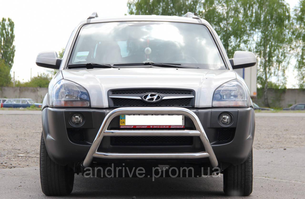 Кенгурятник (защита переднего бампера) Hyundai Tucson 2004-2010