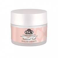 LCN Natural Nail Boost Cream - Питательный крем для полировки и запечатывания ногтей с протеинами и кератином 15 ml