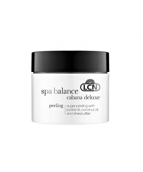 LCN Cabana Deluxe Peeling - Тонизирующий сахарный Пилинг с маслом жожоба, кокоса и ши 50 ml