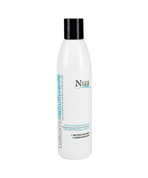 Nua Восстанавливающий бальзам-кондиционер с экстрактом овса и семенами льна 250 ml
