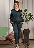 / Размер 46-48,50-52,52-54 / Женский батальный спортивный костюм 33926 / цвет бутылка