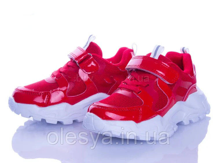 Подростковые модные кроссовки для девочек Angel 200-146red Размеры 31- 36