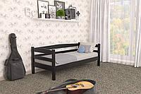 Кровать детская из натурального дерева сосна 80х190 Лёва MECANO цвет Венге 15MKR013