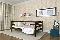 Кровать детская из натурального дерева сосна 90х190 Лёва MECANO цвет Темный орех 15MKR05