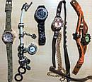 Шикарные часы с кристаллами  и  висящим на ремне   циферблатом (белые), фото 4