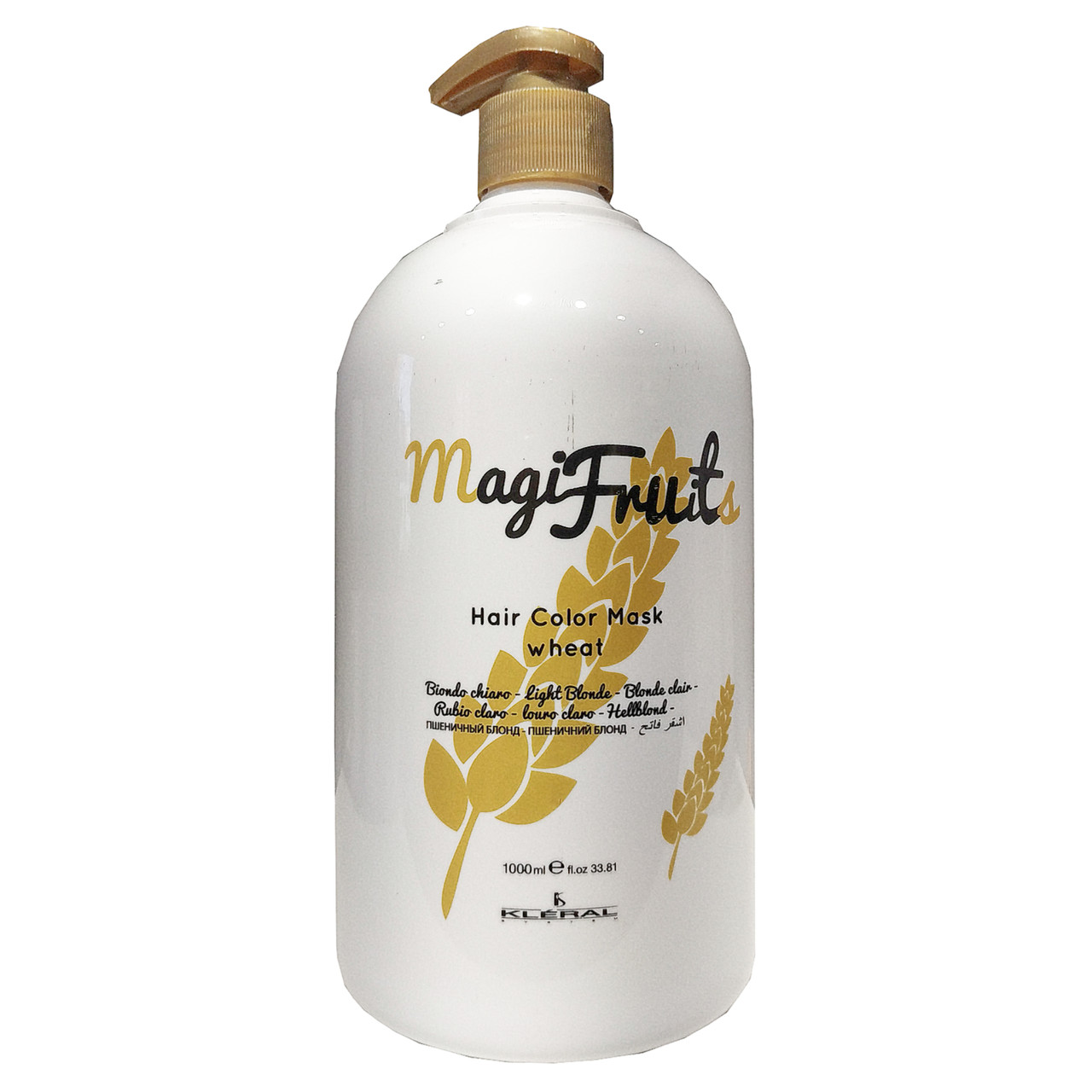 Маска с пигментом Пшеничный блонд с протеинами пшенички  KLERAL Magifruit Color mask wheat 1000 мл