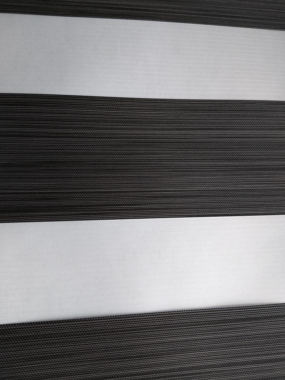 Ролета День-Ночь DIY Лофт графитовый серый / антрацит