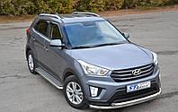 Защита переднего бампера (ус двойной) Hyundai Creta 2014+