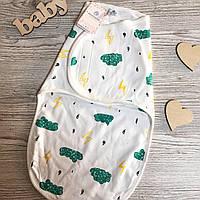 Пеленка-кокон для новорожденной на липучке