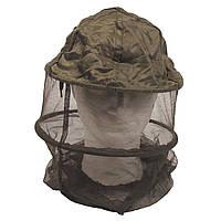 Москитная сетка на голову с металлическим кольцом тёмно-зелёная MFH
