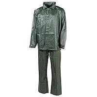 Дождевой костюм тёмно-зелёный (олива), полиэстер MFH, фото 1