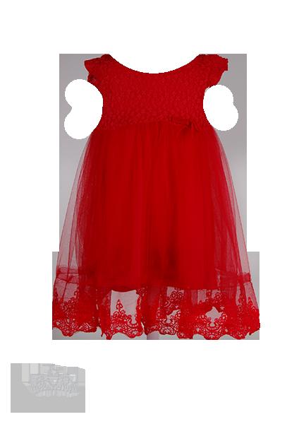 Нежное красное платье с фатиновой юбкой для девочки