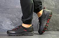 Мужские осенние кроссовки Merrell черные с красным