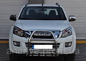 Кенгурятник з грилем (захист переднього бампера) Isuzu D-Max 2012+