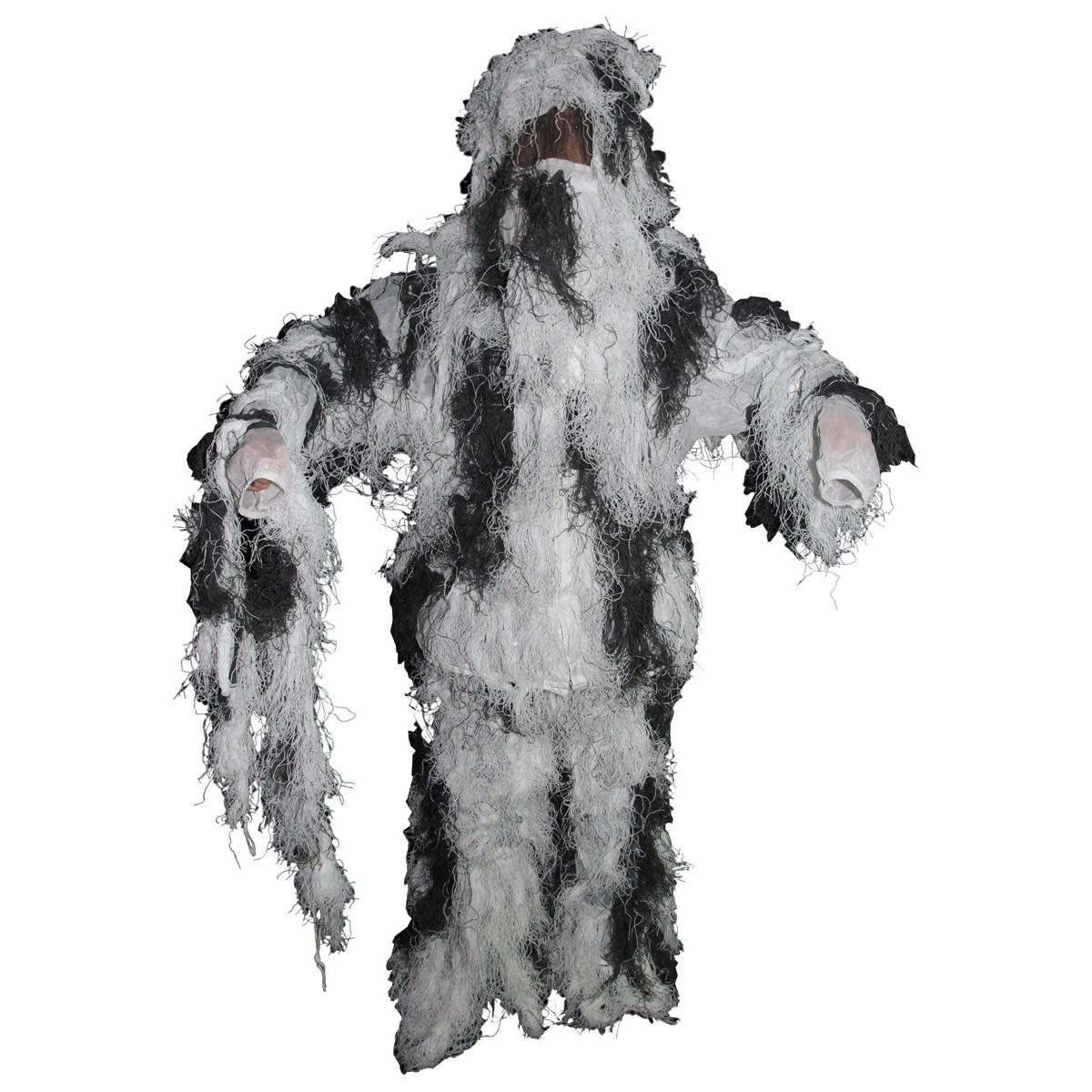 Костюм маскировочный Ghillie Suit снежный камуфляж MFH