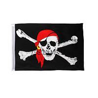 Пиратский флаг «Весёлый Роджер» с косынкой 60х90см