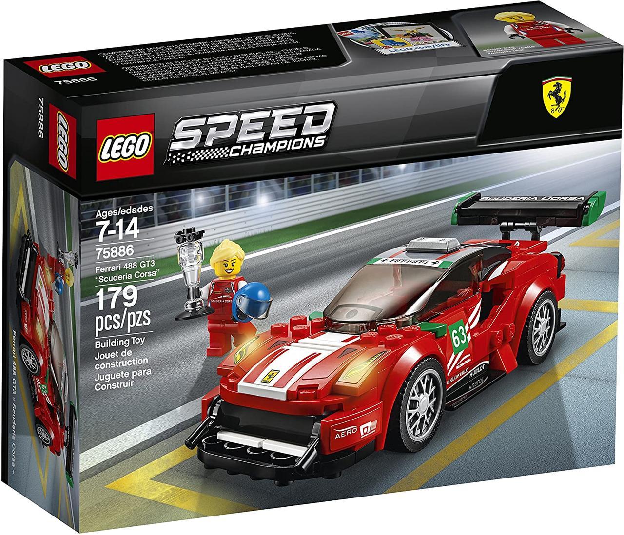 Конструктор LEGO Speed Champions 75886 Ferrari 488 GT3 Scuderia Corsa