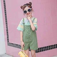 """Комбінезон+футболка дитячий на дівчинку 90-130 см (2 цв) """"Star Kids"""" купити недорого від прямого постачальника"""