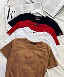 Футболка женская. Цвета: чёрный, белый, красный,розовый,серый,хакки, беж, фото 4