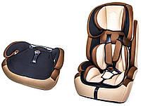 Детское автокресло BeFlye универсальное группа 1/2/3 (9-36 кг). Beige (1479217624)