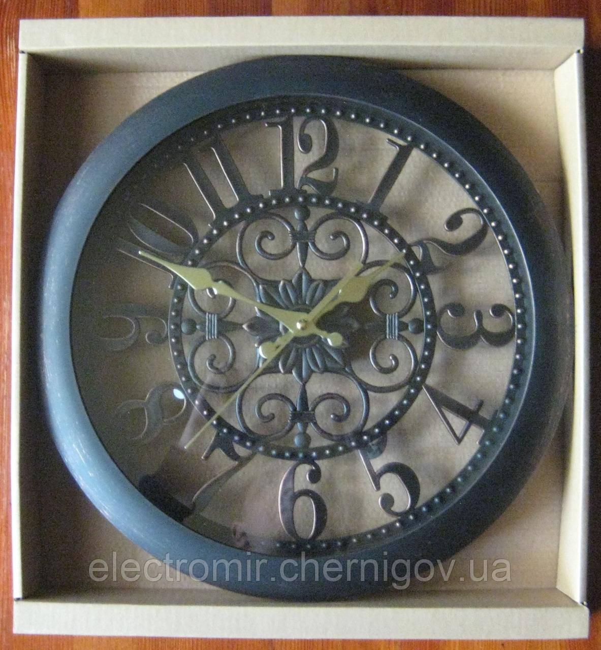Часы настенные RL-2745 35 см диаметр (коричневые)