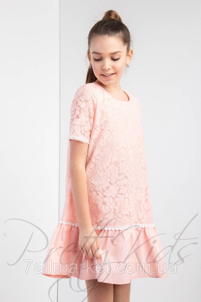 """Платье нарядное с гипюром на девочку 134-152 см (5 цв) """"Star Kids"""" купить недорого от прямого поставщика"""