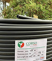 Італія сліпа багаторічна трубаØ16 мм, 100м, стінка 1,2 мм бухта для поливу Corso Hydro Plastik