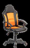 Компьютерное кресло Goodwin TIFFTON кожзам оранж-черное