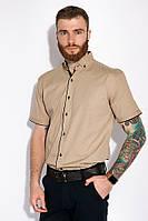 Стильная мужская рубашка 129P060 (Бежевый)
