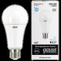 Лампа светодиодная Gauss LED Elementary A67 25W E27 2150lm 6500K