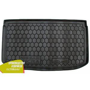 Авто коврик в багажник для NISSAN Micra (2013-2017)