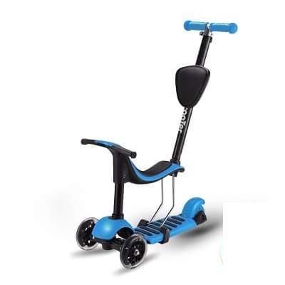 Самокат детский 3-х колесный SC16009 3 в 1, синий