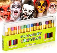 Безопасные Цветные карандаши для рисования на лицах Аквагрим  Нетоксичные   США