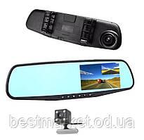 Автомобильное Зеркало Видеорегистратор на 2 камеры Vehicle Blackbox DVR Full HD 1080 с Камерой Заднего Вида
