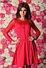Женское платье гипюровый рукав 3 цвета , фото 5