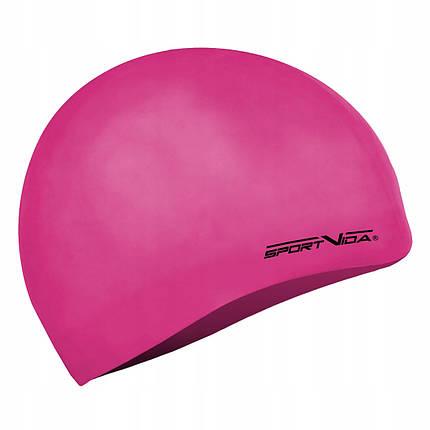 Шапочка для плавання дитяча SportVida SV-DN0019JR Pink, фото 2
